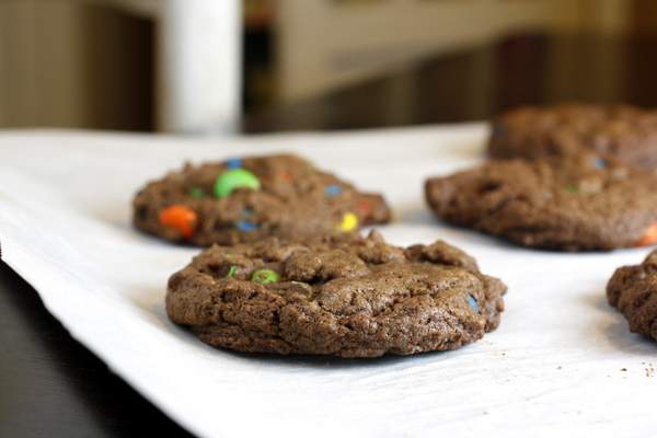 Soft and Chewy Chocolate M&M Cookies