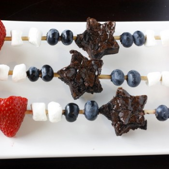 Patriotic Brownie Skewers