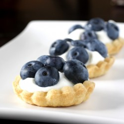 Mini White Chocolate Blueberry Tarts