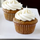 Pumpkin Cupcakes with Maple Cream Cheese Frostin