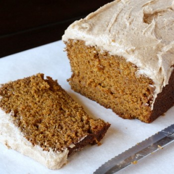 Pumpkin Gingerbread with Spiced Buttercream