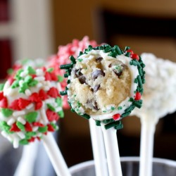 Chocolate Covered Cookie Dough Pops