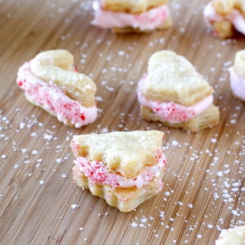 Flaky Peppermint Creme Filled Cookies