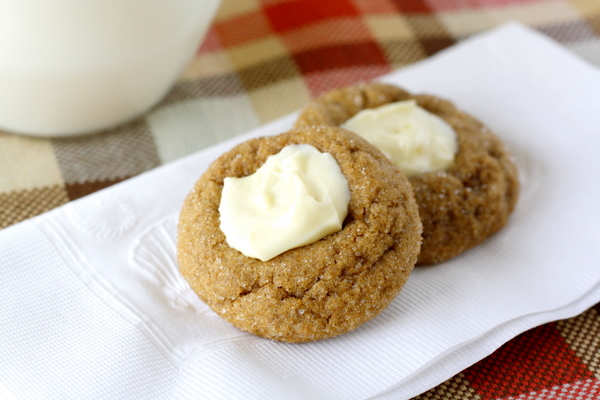 White Chocolate Topped Gingerbread Cookies