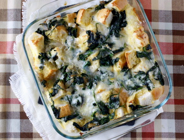 Spinach and Cheese Strata | What Megan's Making