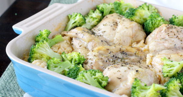 Roasted Chicken with Creamy Cheddar Rice