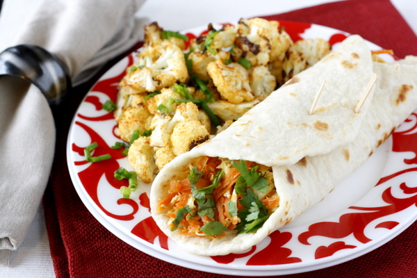 Indian Chicken Wraps