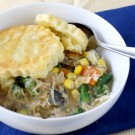 Slow Cooker Chicken and Mushroom Pot Pie