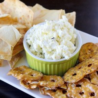 Roasted Garlic, Jalapeno and Feta Dip