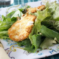 Mixed Greens with Pan-Fried Goat Cheese