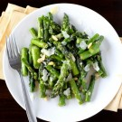 Asparagus with Lemon, Pine Nuts, and Parmesan