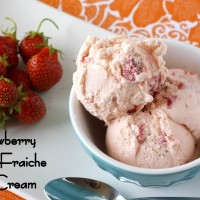 Strawberry Creme Fraiche Ice Cream