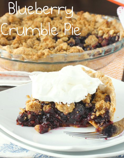 Whole Wheat Blueberry Crumble Pie