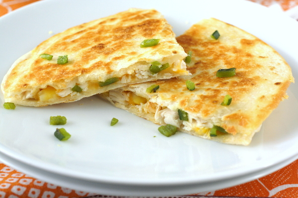 Chicken, Roasted Poblano, and Corn Quesadillas | What Megan's Making