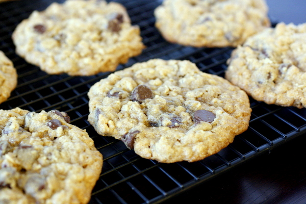 Giant Chewy Oatmeal Chocolate Chip Cookies