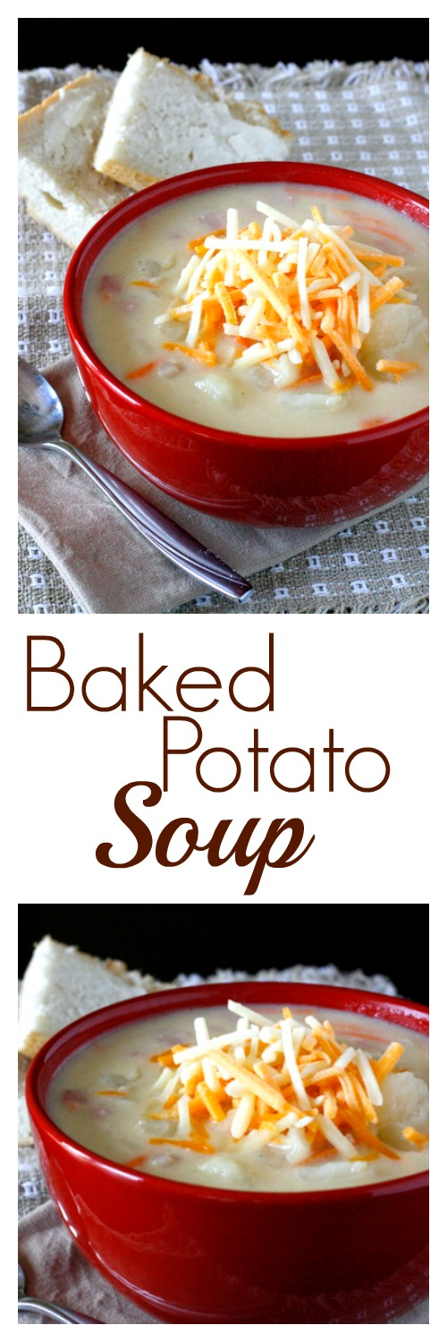Baked Potato Soup - easy and healthy, this soup is completely delicious!