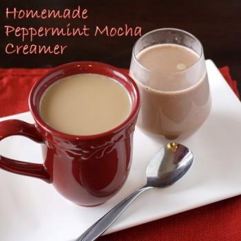 Homemade Peppermint Mocha Creamer