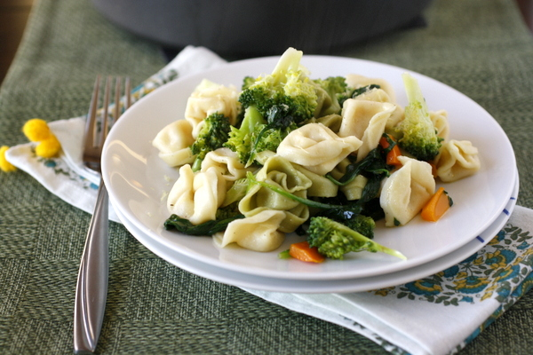 Tortellini with Spinach, Broccoli, and Brown Butter
