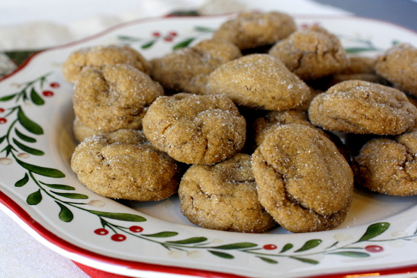 Ginger Molasses Pillow Cookies