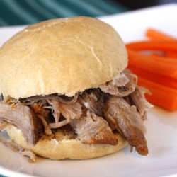Pulled Pork Sandwiches with Ginger Lime Mayonnaise