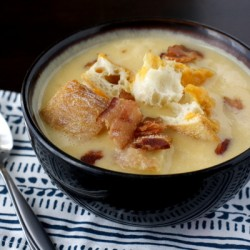 Apple Cheddar Soup with Bacon