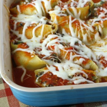 Spinach and Mushroom Stuffed Shells