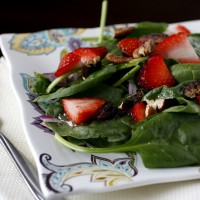 Fresh Strawberry Spinach Salad