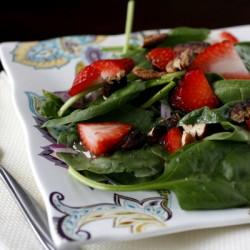 Fresh Strawberry Spinach Salad