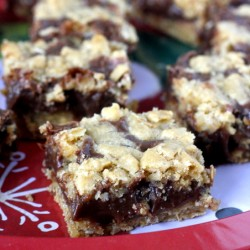 Minty Fudge Oat Bars