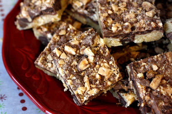 Chocolate Toffee Shortbread Bars