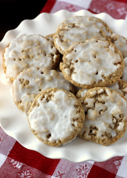 Soft Iced Oatmeal Cookies | What Megan's Making
