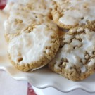 Soft Iced Oatmeal Cookies
