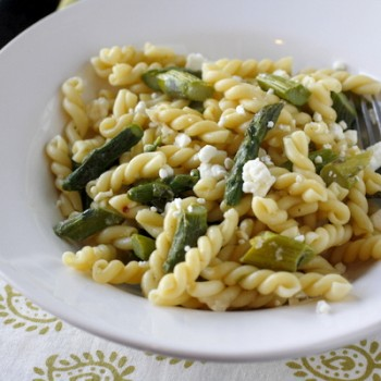 Pasta with Asparagus and Feta Cheese