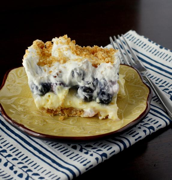 blueberry pudding dessert