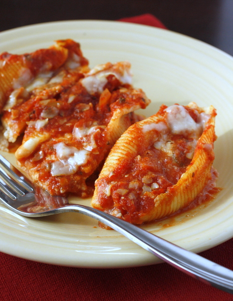 Three Cheese Stuffed Shells