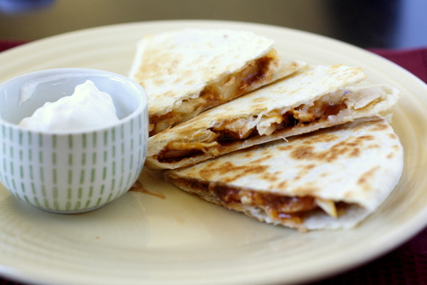 Barbecue Chicken and Pineapple Quesadillas