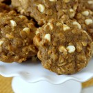 Pumpkin Oatmeal Cookies with White Chocolate Chips