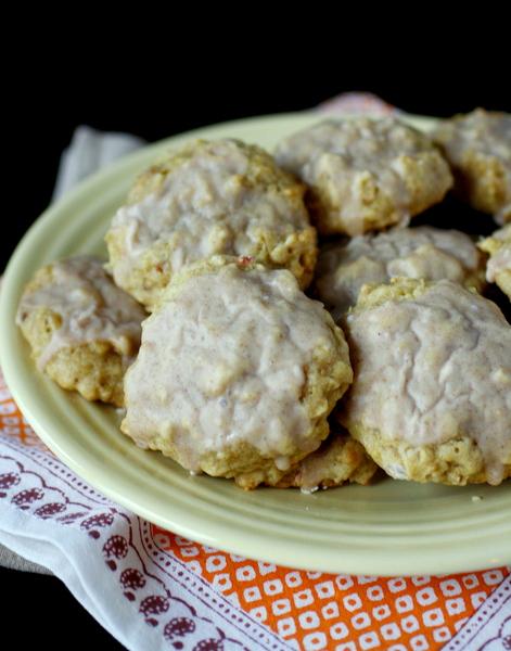 Glazed Apple Oatmeal Cookies