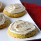 Pumpkin Sugar Cookies with Cinnamon Cream Cheese Frosting