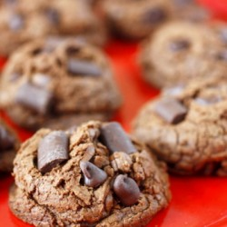 Triple Chocolate Fudge Cookies