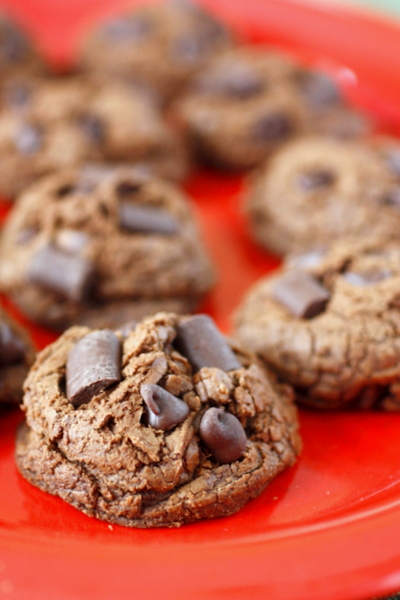 Triple Chocolate Fudge Cookies