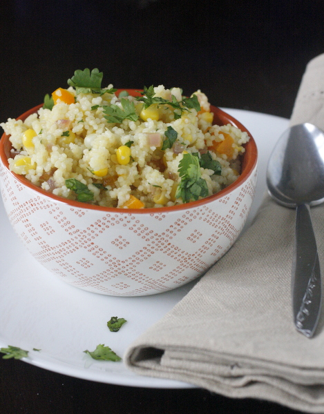 Couscous Salad with Corn and Red Bell Pepper
