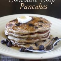Oatmeal Chocolate Chip Pancakes