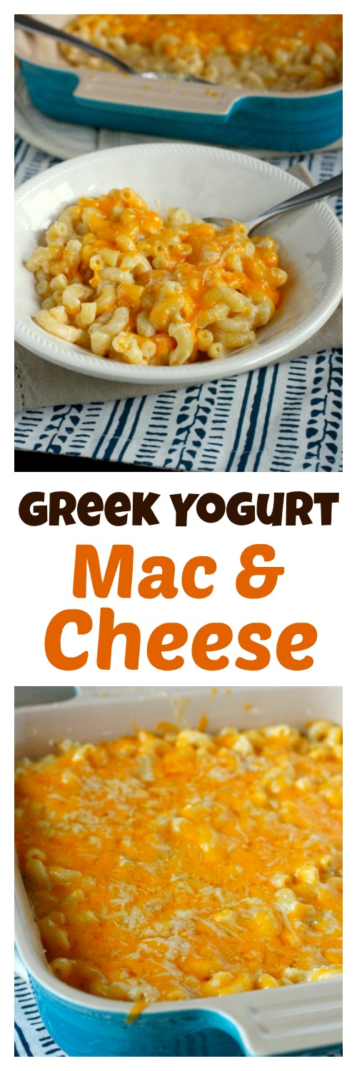 Greek Yogurt Macaroni and Cheese - so creamy, and healthier than traditional recipes!