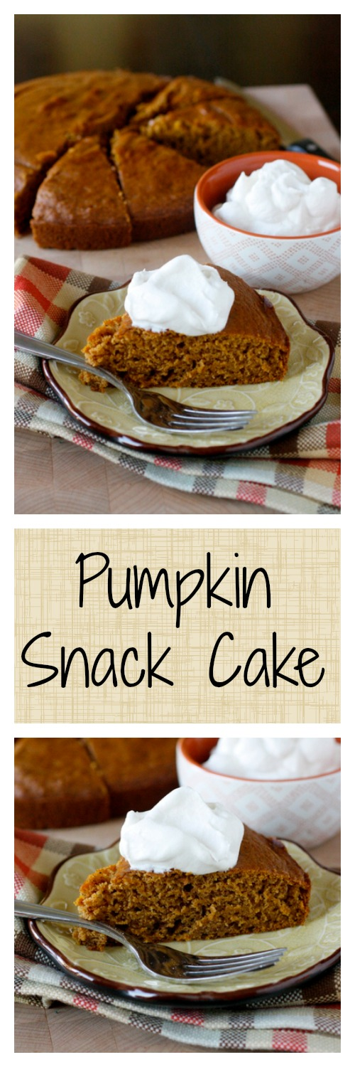 This pumpkin snack cake is light and moist and perfectly spiced for fall - one of my most favorite fall recipes!
