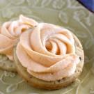 Vanilla Bean Shortbread Cookies with Orange Buttercream