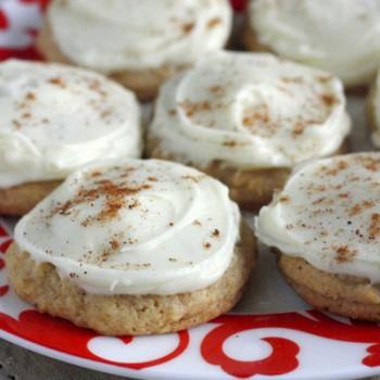 Soft Iced Eggnog Cookies