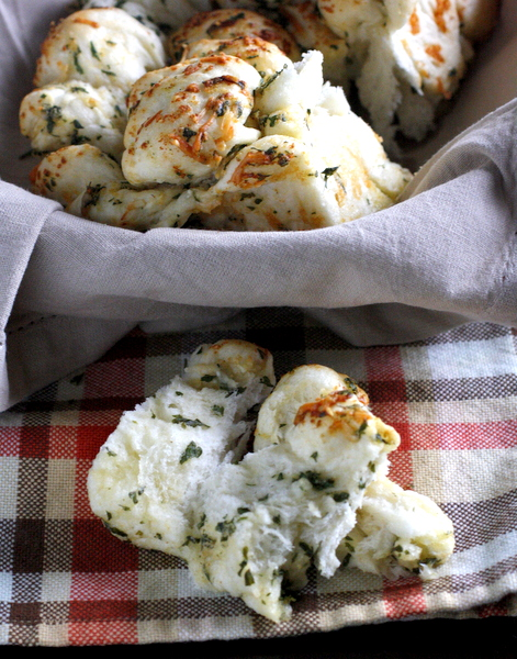 Garlic Herb and Cheese Pull-Apart Bread