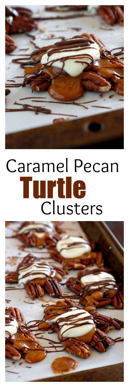 Caramel Pecan Turtle Clusters