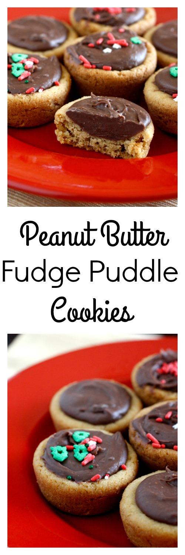 Peanut Butter Fudge Puddle Cookies